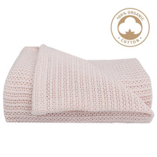 Living Textiles Organic Cot Cellular Blanket - Rose Quartz