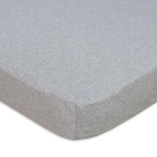 Living Textiles Jersey Cot Fitted Sheet - Grey Melange