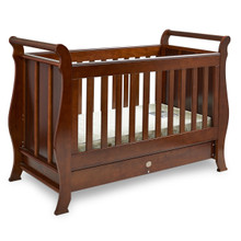 Super Nanny 4 in 1 Classic Sleigh Cot Bed - English Oak