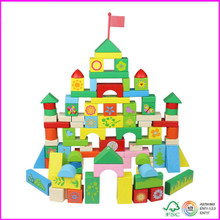 Flower stacking 100pcs wooden Blocks