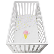 Lolli Living Cot Waffle Blanket - Ice Cream