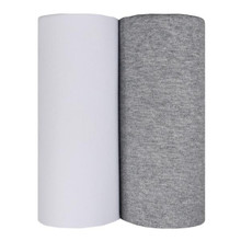 Living Textiles Jersey Wraps - White & Grey (2pk)