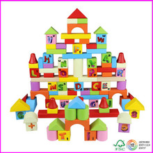 Alphabet stacking 100pcs wooden Blocks