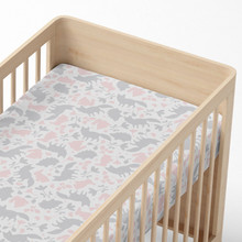 Living Textiles Jersey Cot Fitted Sheet - Forest Friends
