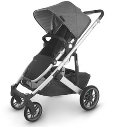 UppaBaby CRUZ V2 Stroller - Jordan (Charcoal Mélange/Silver/Black Leather)