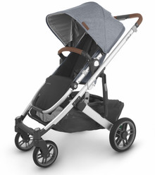 UppaBaby CRUZ V2 Stroller - Gregory (Blue Mélange/Silver/Saddle Leather)