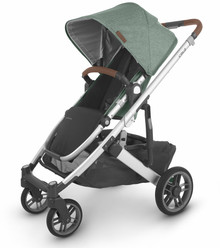 UppaBaby CRUZ V2 Stroller - Emmett (Green Mélange/Silver/Saddle Leather)