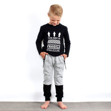 Grey Colour Block Sweatpant