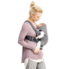 Baby Bjorn Carrier Mini 3D Jersey - Charcoal Grey