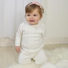Living Textile 2pc Cable Knit Sweater and Pant Set