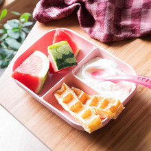Beaba Silicone Suction Divided Plate & Spoon