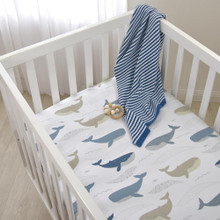 Lolli Living Oceania Cot Fitted Sheet - Whales