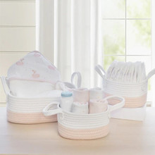 Living Textiles 3pc Storage Set - Blush