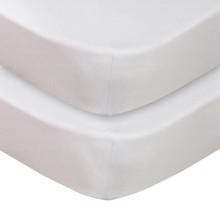 Living Textiles Jersey Cot 2pk Fitted Sheet - White