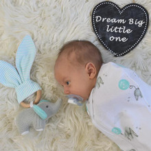Living Textile Zip Up Swaddle - Dream Big