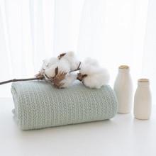 Living Textiles Organic Cot Cellular Blanket - Sage