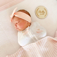 Living Textiles Zip Up Swaddle - Swan