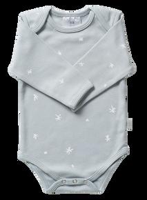 Babu Organic Envelope Neck Bodysuit - Coastal Star