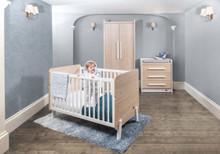 Natty Cot Bed - Barley White & Oak