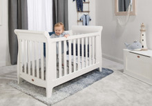 Sleigh Expandable Cot Bed - Barley White