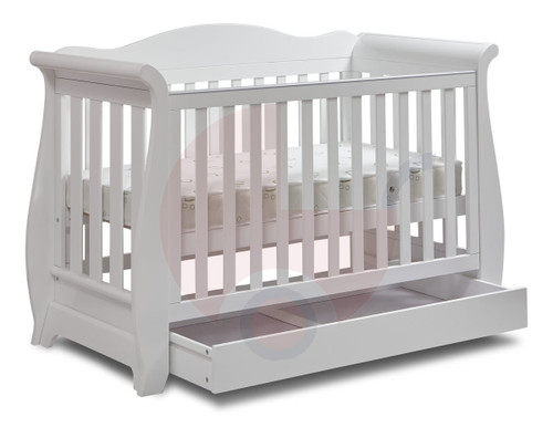 Buy  Super Nanny Regal Sleigh 4 in 1 Cot -  White Online at  Babies