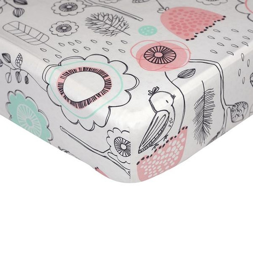 Lolli Living Fitted Cot Sheet - Sparrow