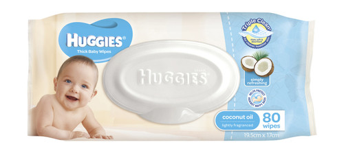 Huggies Wipes Refill 80s - Coconut