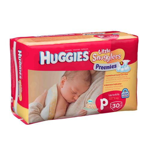 Huggies Little Snugglers Premature Nappies 30s