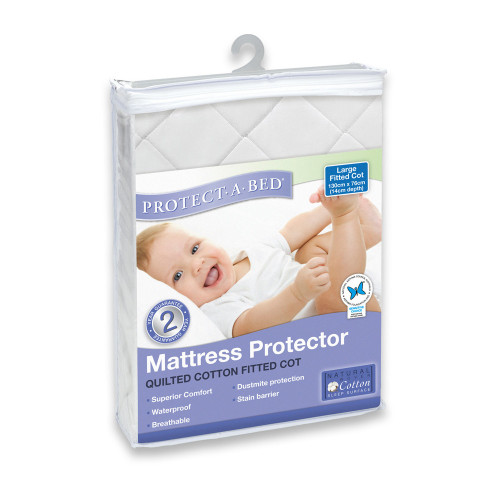 Protect A Bed Cotton Quilted Universal Fitted Cot