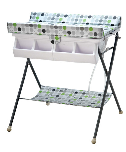 Super Nanny Pacific - Changing Unit (Bath and Change table) - Spotty Lime