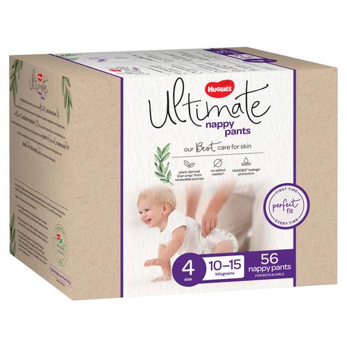 Huggies Ultimate Unisex Nappy Pants Size 4