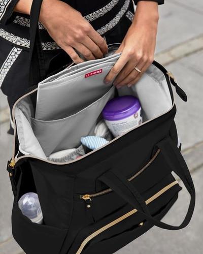 Skip Hop Mainframe Wide Open Diaper Backpack Black-Babies NZ