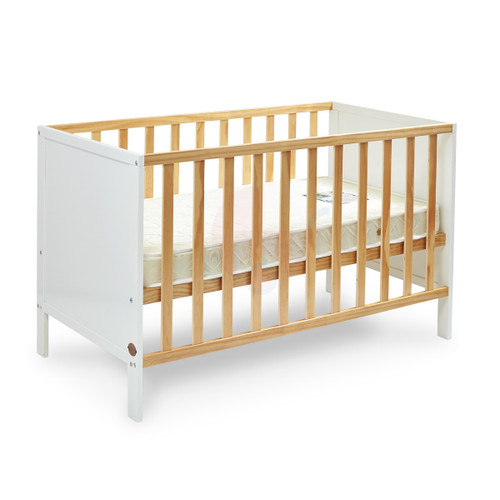 Super Nanny Addington Cot - White/Natural