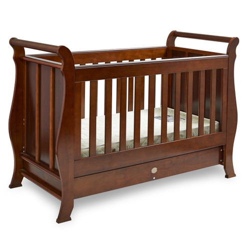 Super Nanny 4 in 1 Classic Sleigh Cot Bed - English Oak