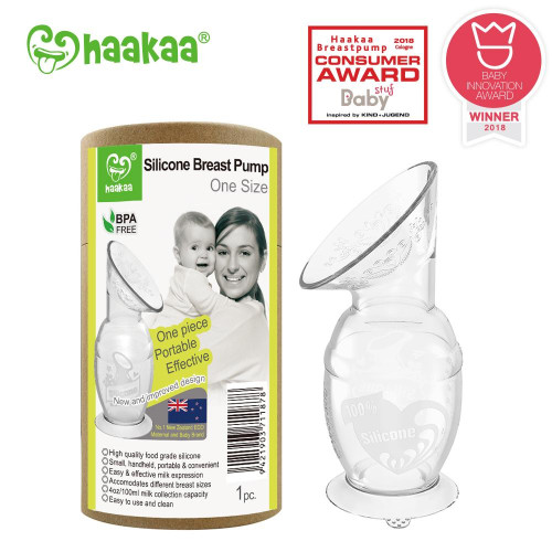 Haakaa Silicone Breast Pump with Suction Base (150ml)