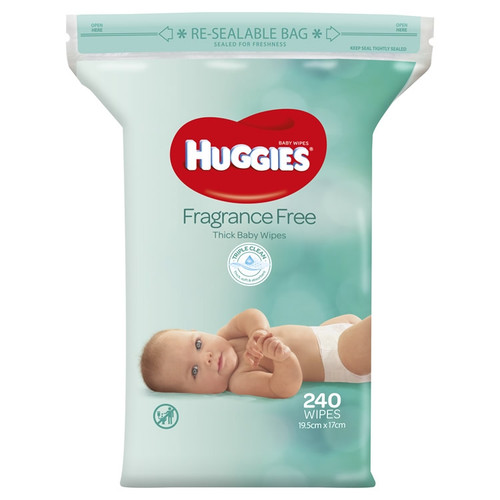Huggies Wipes Fragrance Free Refill 240s
