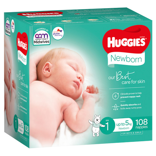 Huggies Ultimate Nappies Newborn 108s