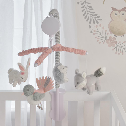 Living Textile Musical Mobile Set - Forest Friends