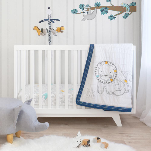 Lolli Living 4 piece Nursery Set - Urban Safari