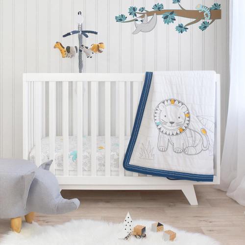 Lolli Living 4 piece Nursery Set - Urban Safari