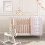 Living Textiles Jersey Cot Fitted Sheet -  Swan Princess