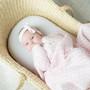 Living Textiles Lattice Baby Shawl - Pink