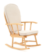 Ellie Natural Rocking Chair with Beige Cushion