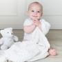 Living Textiles Lattice Baby Shawl - White