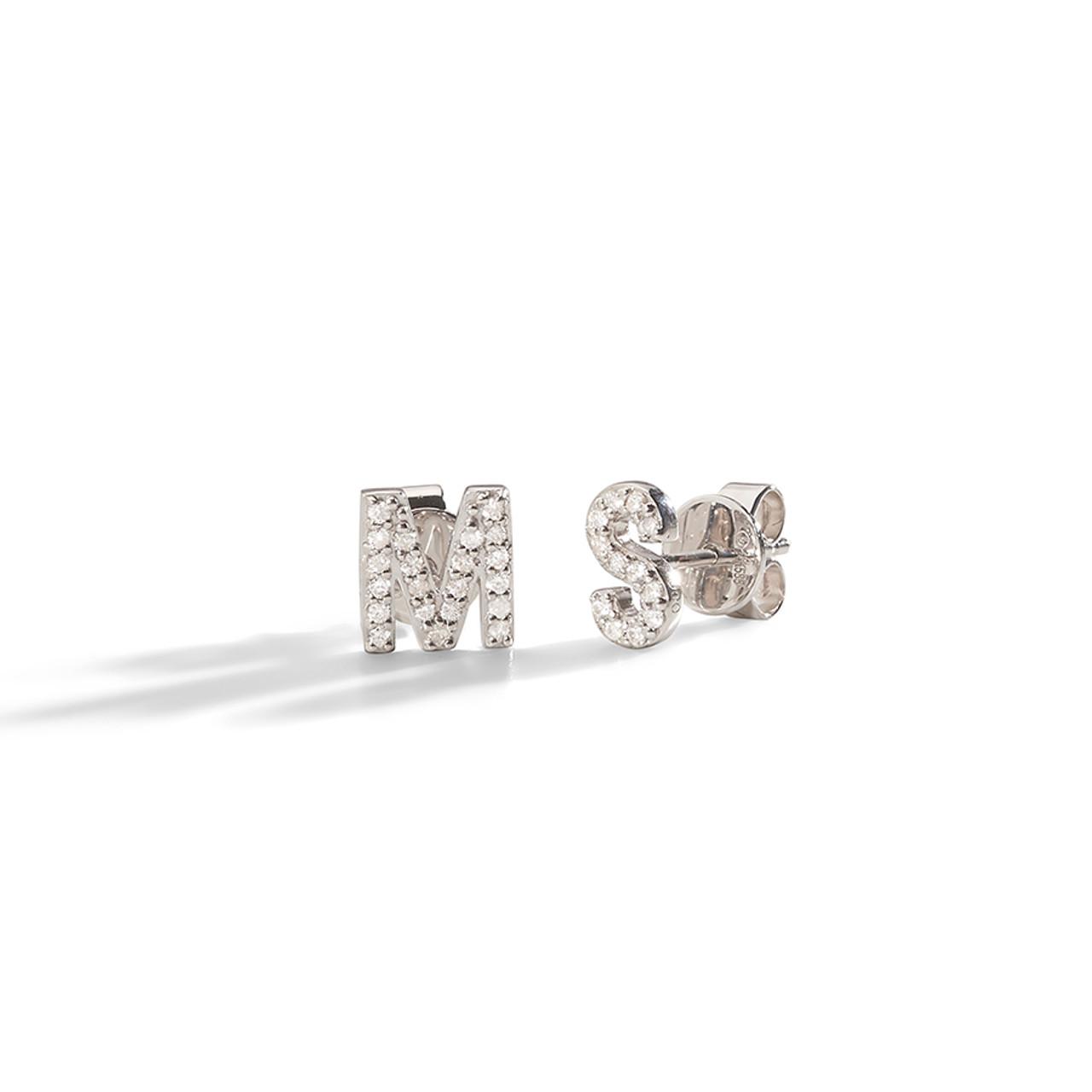 7d77e750c Gold Initial Earring | Letter Stud | Alphabet Earring