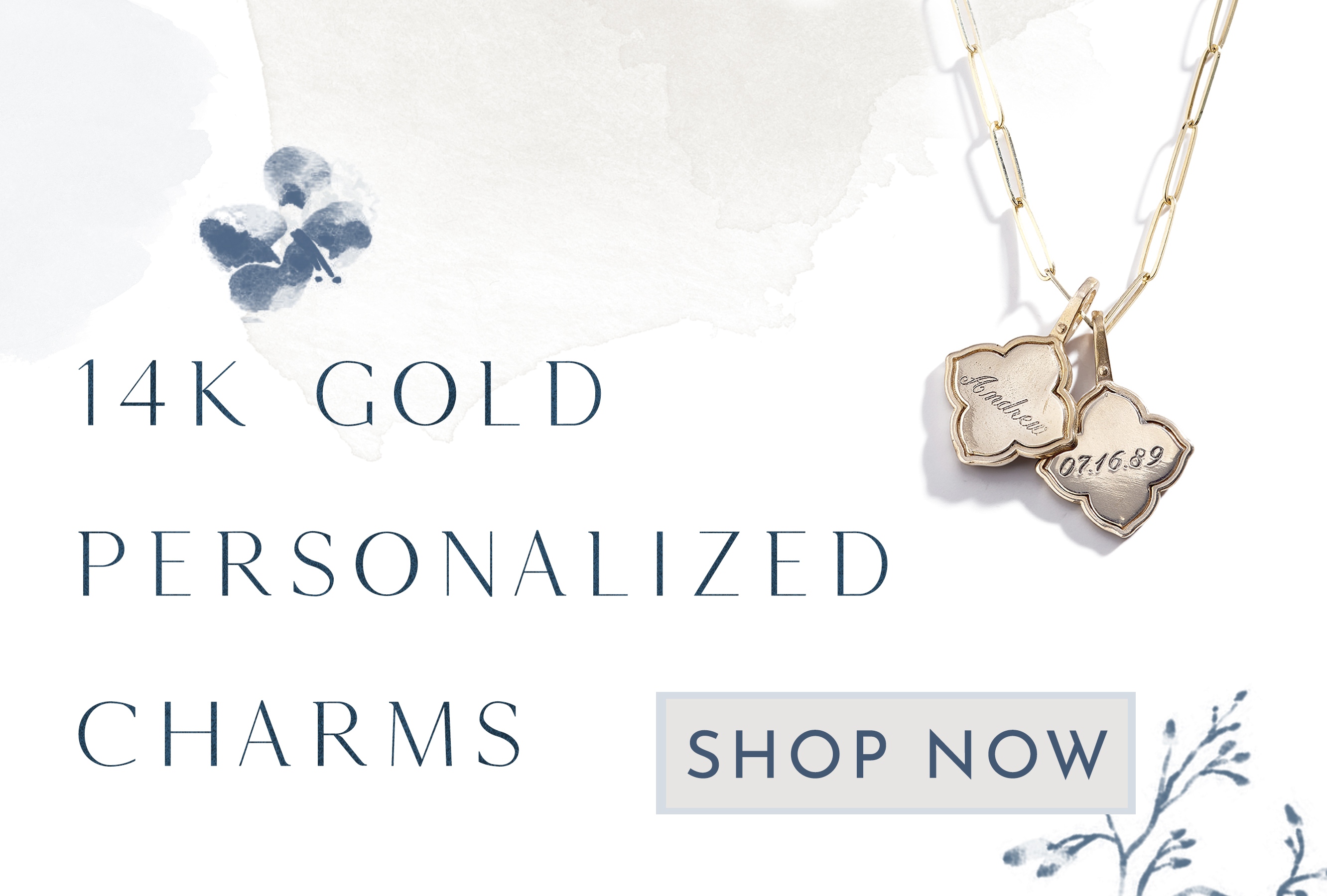 Gold Personalized Charms
