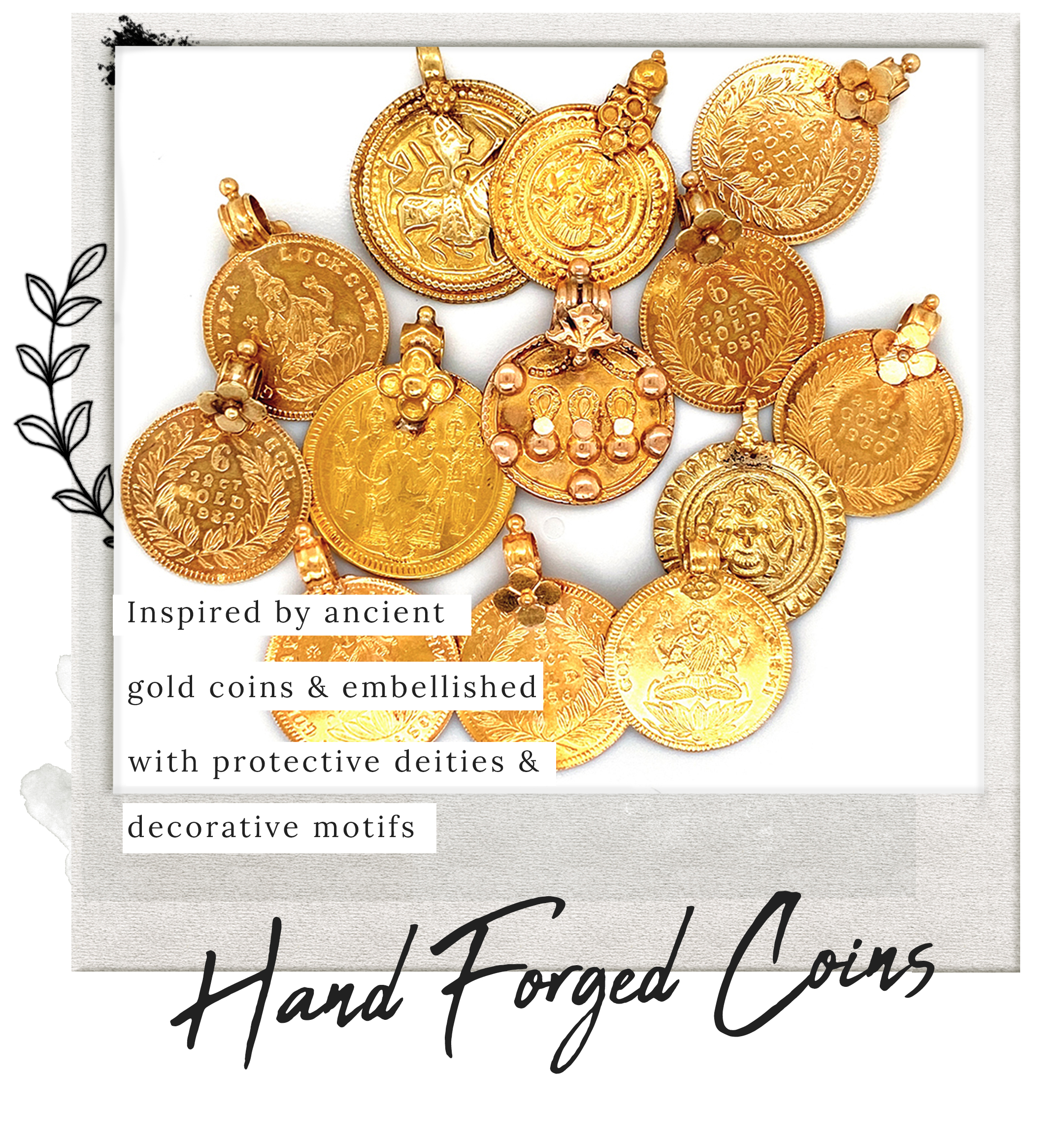 Vintage Gold Coin Charms
