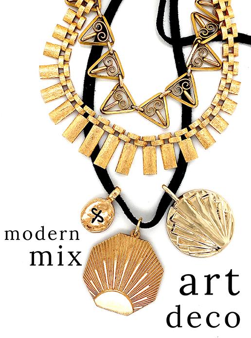Modern Mix Art Deco Jewelry Style