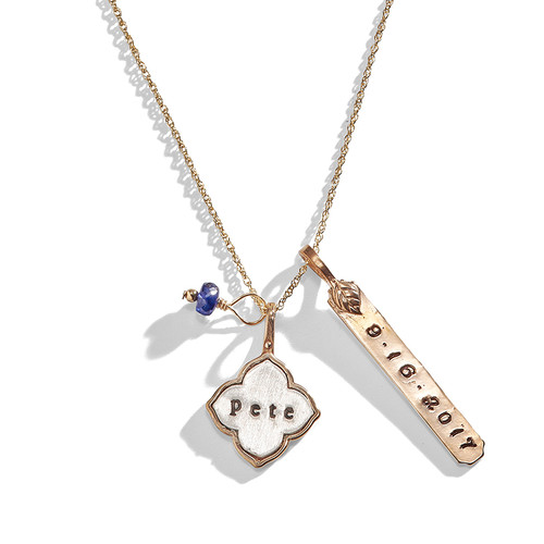 d7ee0c8950202 Madeline Personalized Lotus Charm Necklace