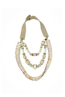 Long Layered Classic Necklace - Cowrie